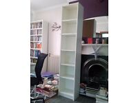 Ikea bookshelves, white