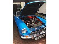 Blue MGB 1978 Roadster