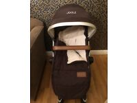 Joolz Day Pram, Carrycot and Accesories in Monkey Maroon in Very Good Condition