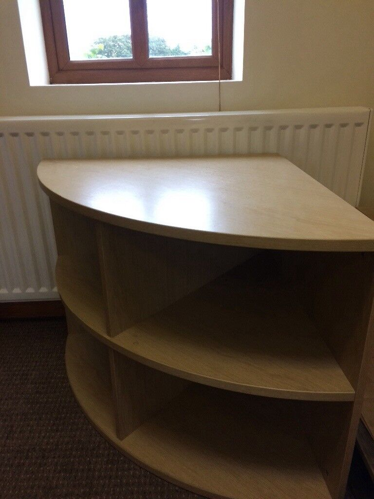 Wooden corner shelving unit / TV stand in excellent condition