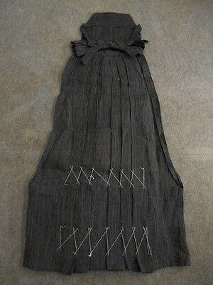 19787 Japanese Vintage Kamishimo Samurai's costume Hakama Striped Pattern