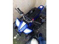 50cc blue quad bike