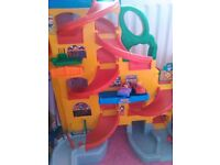 Fisher price garage with cars
