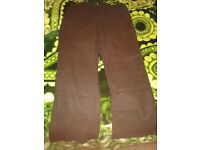 Brown new formal trousers