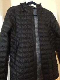 Men's North Face Thermal ball hooded full Zip Black size S jacket
