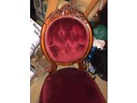 Lovely Louis style chair for shabby chic project ( before and after )