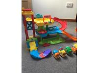 VTech Toot Toot sets and 4 vehicles