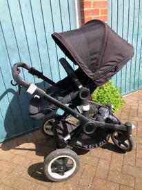 Black Limited Edition Bugaboo Buffalo Pushchair & Carrycot