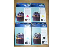 Genuine Brother Printer Ink Bundle 4 Colours LC123M LC123Y LC123C LC123BK Suits Various Printers
