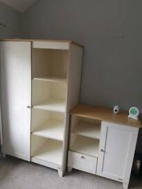 Beautiful John Lewis nursery changing chest of drawers and wardrobe