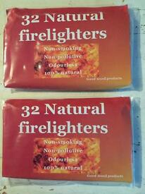 20 packs of 32 Natural Firelighters