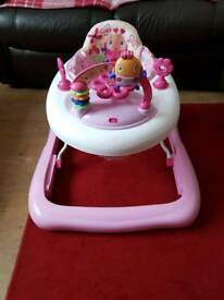 Bright starts pink princess baby walker for sale