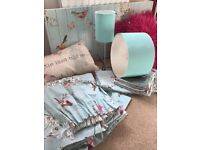 Dunelm birds double duvet cover, curtains & accessories bundle