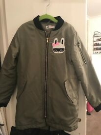 Girls bomber jacket. H&M size 7-8 years