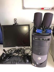 DELL COMPUTER TOWER PC AND SCREEN MONITOR dell 1707fpt + MANY EXTRAS FULL SET UP