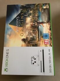 Xbox one S 500GB sealed Assassins creed Origin with warranty + receipt