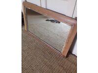 Large overmantle Tunbridge ware mirror