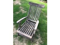 Hardwood reclining chair