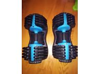 2 x Men Health Adjustable Dumbbells (PAIR) 25kg each in VGC (york, bowflex, powerblock)