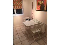 Foldable Table and 3 Chairs. NEEDS TO GO BY DEC 12, PRICE NEGOTIABLE