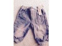 Brand new with tag 3-6 m trousers