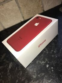 Brand New Still Sealed limited Edition Red Iphone 7 128gb