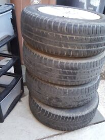 Genuine vw golf alloys.. 4 good condition tyres