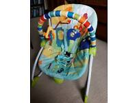 Lovely Bright Stars Baby Rocker & Toddler Seat - Perfect Condition