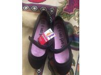 M&S Girls black shoes