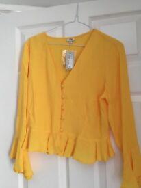 River island ladies orange blazer size 6 brand new with tags
