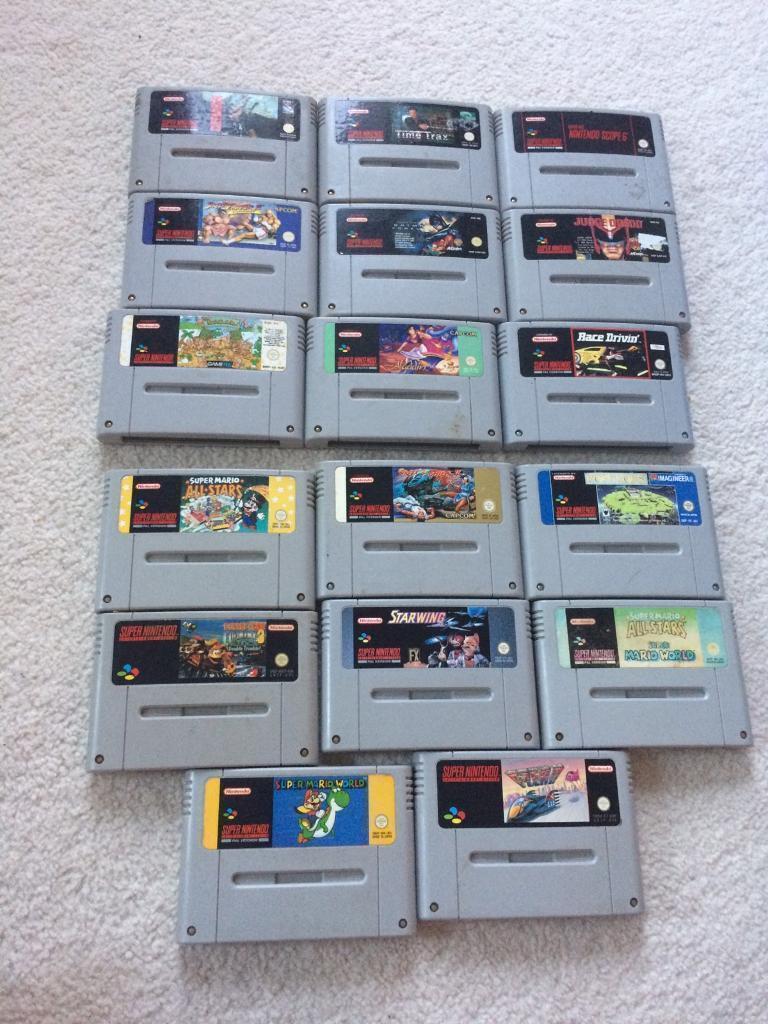 Various selection Super Nintendo snes games for sale