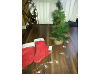 Christmas Tree, Stockings, and lights
