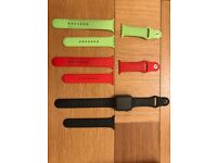 Apple 42mm Sport Watch Series 1 black with 2 extra straps
