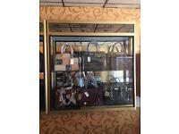 Gold Shop glass display cabinet £650 each
