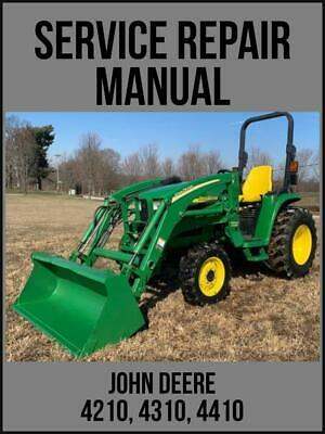John Deere 4210 4310 4410 Utility Tractor Technical Manual Tm1985 Usb Drive