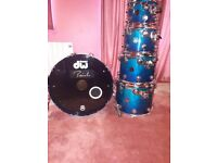 DW Collectors - Exotic Ice Birch Regal to Royal Fade - 5 piece Birch shell set