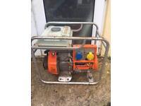 Kubota petrol generator 12v 240v 110v site camping