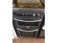 Black belling 50cm gas cooker grill & oven good condition with guarantee bargain