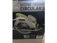 Brand new boxed guild 1600w circular saw with laser 185mm
