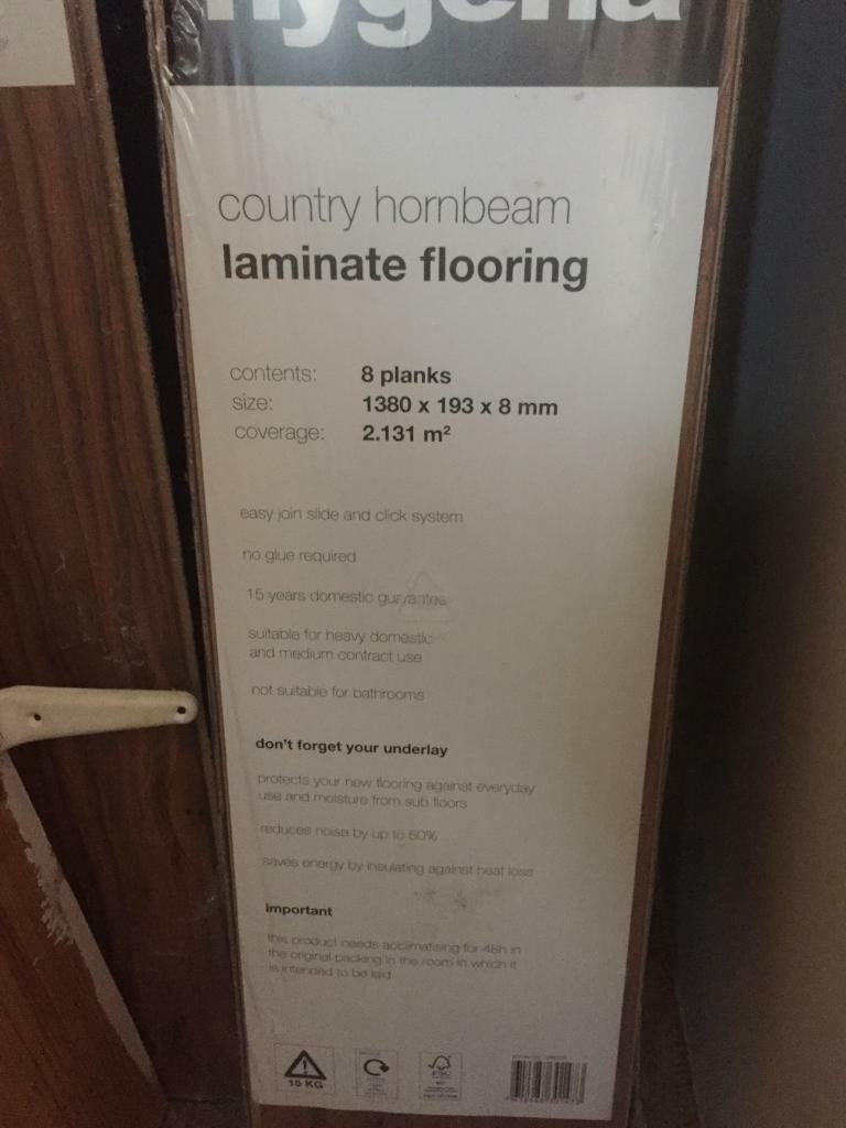 15m Sq Hygena Country Hornbeam Laminate Flooring 8mm