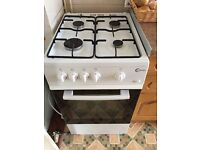 White gas oven with hob