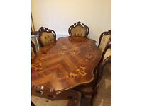 Italian dining table and x6 chairs