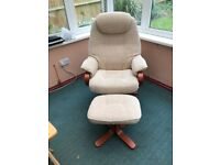 Swivel Armchair & Footstool