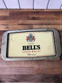 REDUCED Vintage Metal Bells Whiskey Tray
