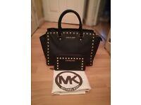 Michael kors black/gold stud bag & purse