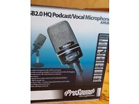 BRAND NEW PROSOUND USB2.0 HQ Podcast/Vocal Microphone