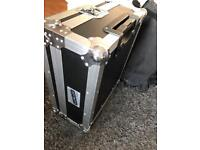Turntable flightcase with wheels technics 1210 1200