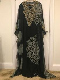 Black Arabic-Style Jalabiya Gown