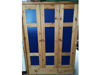 Wardrobe. 3 door, full length for hanging. With shelves and draws