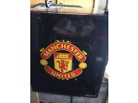 Manchester United beer fridge